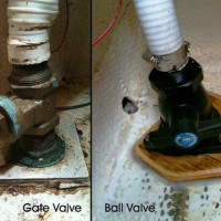 Gate valve replaced with a marelon ball valve
