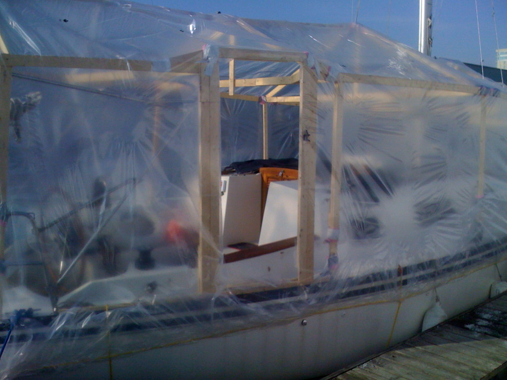 Now its simply a matter of heating the plastic up with the propane gun
